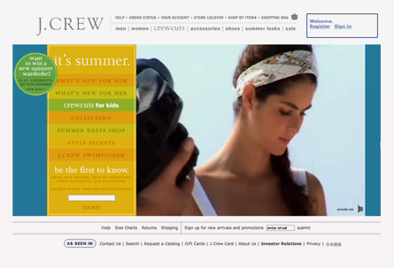 j.crew video e-commerce