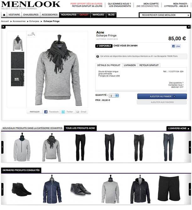 Menlook - vêtements et accessoires pour hommes