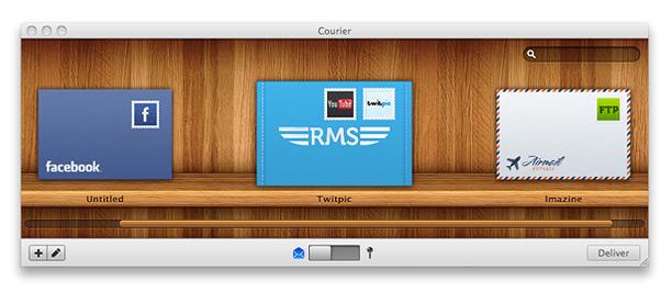 Courier pour Mac, poster des fichiers d'un clic vers plusieurs services