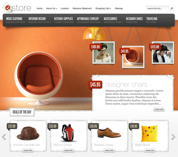 theme e-commerce wordpress : e-store