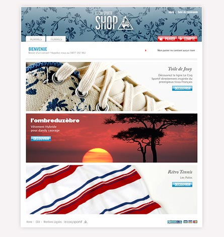 e-commerce coq sportif